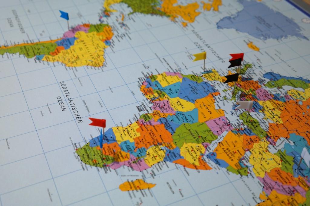 image map monde